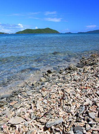 View of the Caribbean island Tortola - British Virgin Islands photo