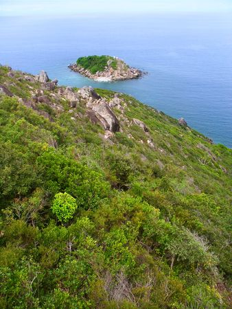 View of Little Fitzroy Island from Fitzroy Island in Queensland, Australia Stock Photo - 7798674