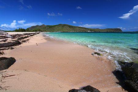 majors: Beach on the Caribbean island of Saint Kitts Stock Photo