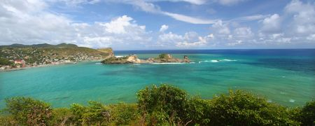 Beautiful Dennery Bay on the Caribbean island of Saint Lucia