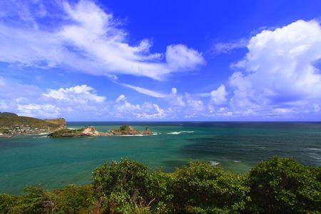 Dennery Bay on the Caribbean island of Saint Lucia