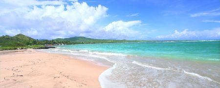 Beautiful Anse de Sables Beach on the Caribbean island of Saint Lucia photo