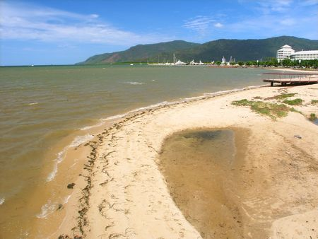 Beach along the tropical city of Cairns, Queensland - Australia photo