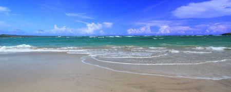 Scenic Anse de Sables Beach on the Caribbean island of Saint Lucia photo
