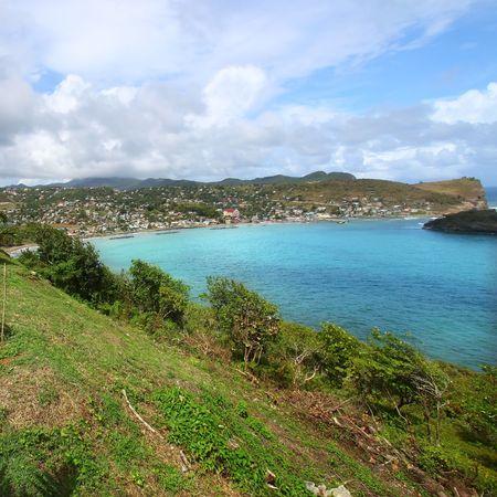 Beautiful Dennery Bay on the Caribbean island of Saint Lucia photo