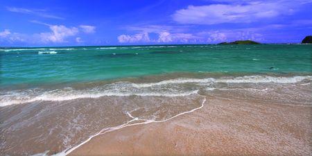 Beach on the Caribbean island of Saint Lucia photo
