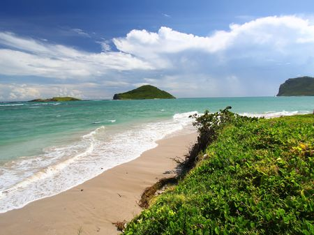 lucia: Beach scenery on the Caribbean island of Saint Lucia Stock Photo