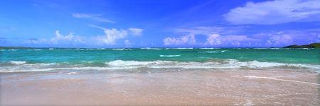 Beautiful panoramic view of the Caribbean Island Saint Lucia. photo