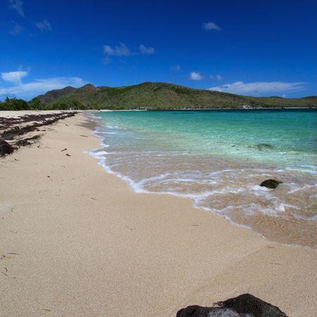 Majors Bay Beach on the Caribbean island of Saint Kitts.
