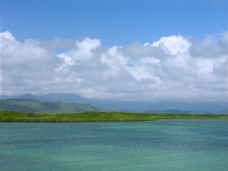 douglas: View along the coast of Port Douglas - Queensland, Australia.