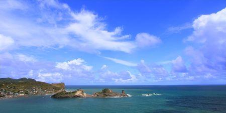 Beautiful Dennery Bay on the Caribbean island of Saint Lucia. photo