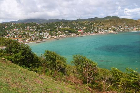 Town of Dennery on the Caribbean island of Saint Lucia