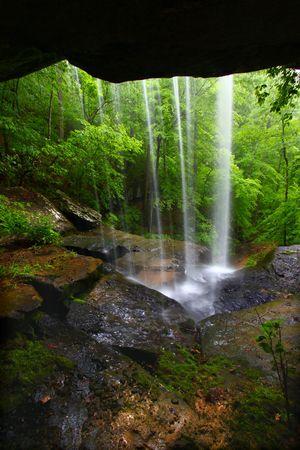 cane creek: Waterfall in northern Alabama Stock Photo