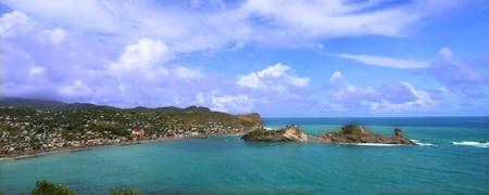 Beautiful Dennery Bay on the Caribbean island of Saint Lucia.