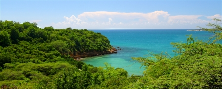 rico: Caribbean coastline at Guanica Dry Forest Reserve - Puerto Rico Stock Photo