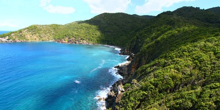 View of the beautiful Shark Bay National Park of Tortola - BVI Stock Photo - 8779157