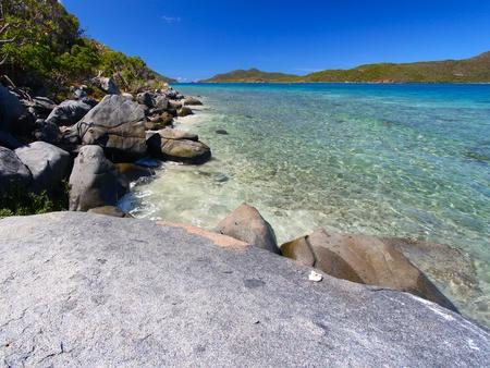 Beautiful coastline scenery of the British Virgin Islands. photo
