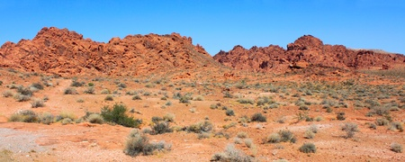 Panoramic view of the desert at Valley of Fire State Park in Nevada Stock Photo - 8923147