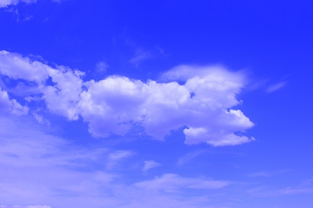 patchy: Beautiful blue sky with patchy cloud cover