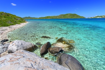 Tortola of the British Virgin Islands on a beautiful sunny day photo