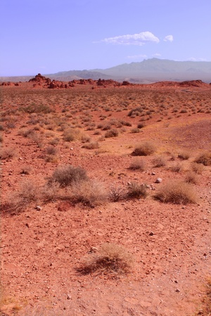 The vast red desert at Valley of Fire State Park in Nevada. Stock Photo - 9087212