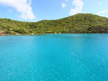 bight: View of the Caribbean coastline of Norman Island - British Virgin Islands