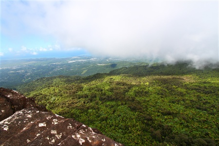 View of the Puerto Rican landscape from El Yunque Peak photo