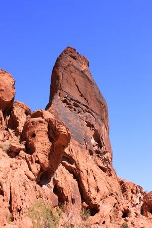 pin�culo: Pinnacle - Valle de fuego de rock Foto de archivo