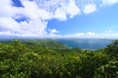 View of Tortola from Sage Mountain National Park - British Virgin Islands photo