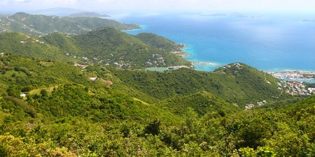 virgin islands: Beautiful landscape of Tortola from Sage Mountain National Park - British Virgin Islands