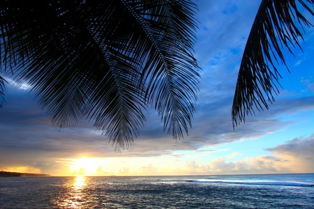 Puerto Rico Sonnenuntergang Standard-Bild - 9418910
