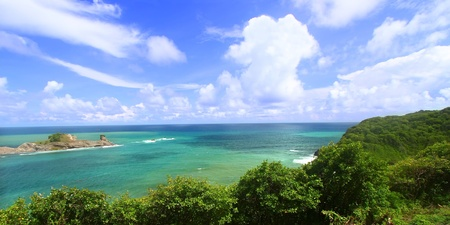 st lucia: Beautiful Dennery Bay on the Caribbean island of St Lucia