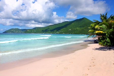 Smugglers Cove Beach on Tortola of the British Virgin Islands