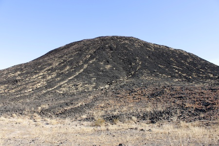 natural landmark: Cinder cone of Amboy Crater National Natural Landmark in California. Stock Photo