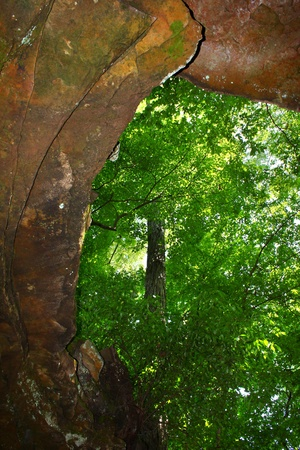 Entrance to Cave Spring along the Natchez Trace Parkway of northern Alabama photo