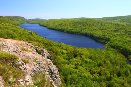 michigan state: Lake of the Clouds at Porcupine Mountains State Park in northern Michigan Stock Photo