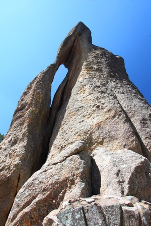 Needles Eye rock formation in Custer State Park of South Dakota Stock Photo - 10510451