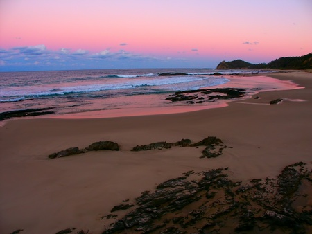 A beautiful sunset at Nambucca Heads in New South Wales, Australia photo