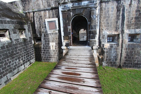 Entrance to the Citadel at Brimstone Hill Fortress on Saint Kitts