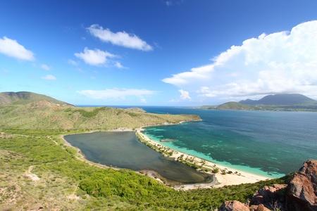 majors: Majors Bay Beach and lagoon on Saint Kitts