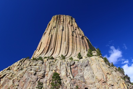 monolith: Huge boulders surround Devils Tower National Monument of northeastern Wyoming