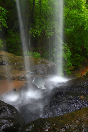 Tranquil waterfall on Cane Creek in northern Alabama photo
