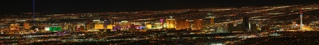 sin city: Las Vegas Strip panoramic view (high resolution) as seen from elevation east of Sin City