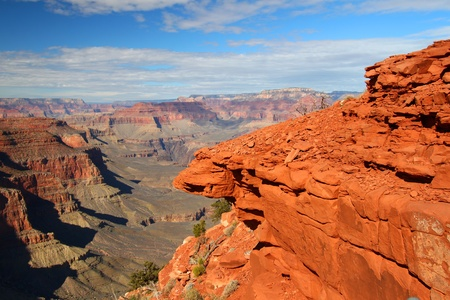 south kaibab trail: View of the mighty Grand Canyon from the South Kaibab Trail - Arizona, USA Stock Photo