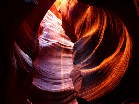Striking colors of Antelope Canyon in northern Arizona, United States Stock Photo - 11788787