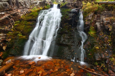 Upper Memorial Falls in the Lewis and Clark National Forest of Montana photo