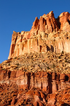 Red rock formations dominate the landscape of Capitol Reef National Park in Utah Stock Photo - 11869146