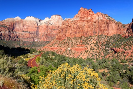 Landscape scenery of Zion National Park in southwest Utah Stock Photo
