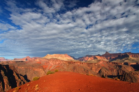 south kaibab trail: Rugged scenery of Grand Canyon National Park in northern Arizona Stock Photo