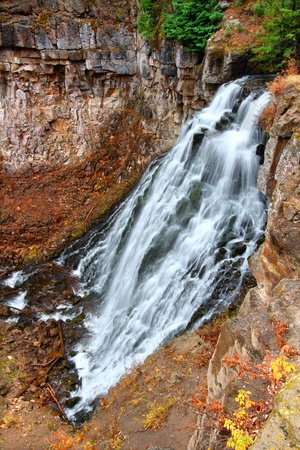 Rustic Falls of Yellowstone National Park in Wyoming photo